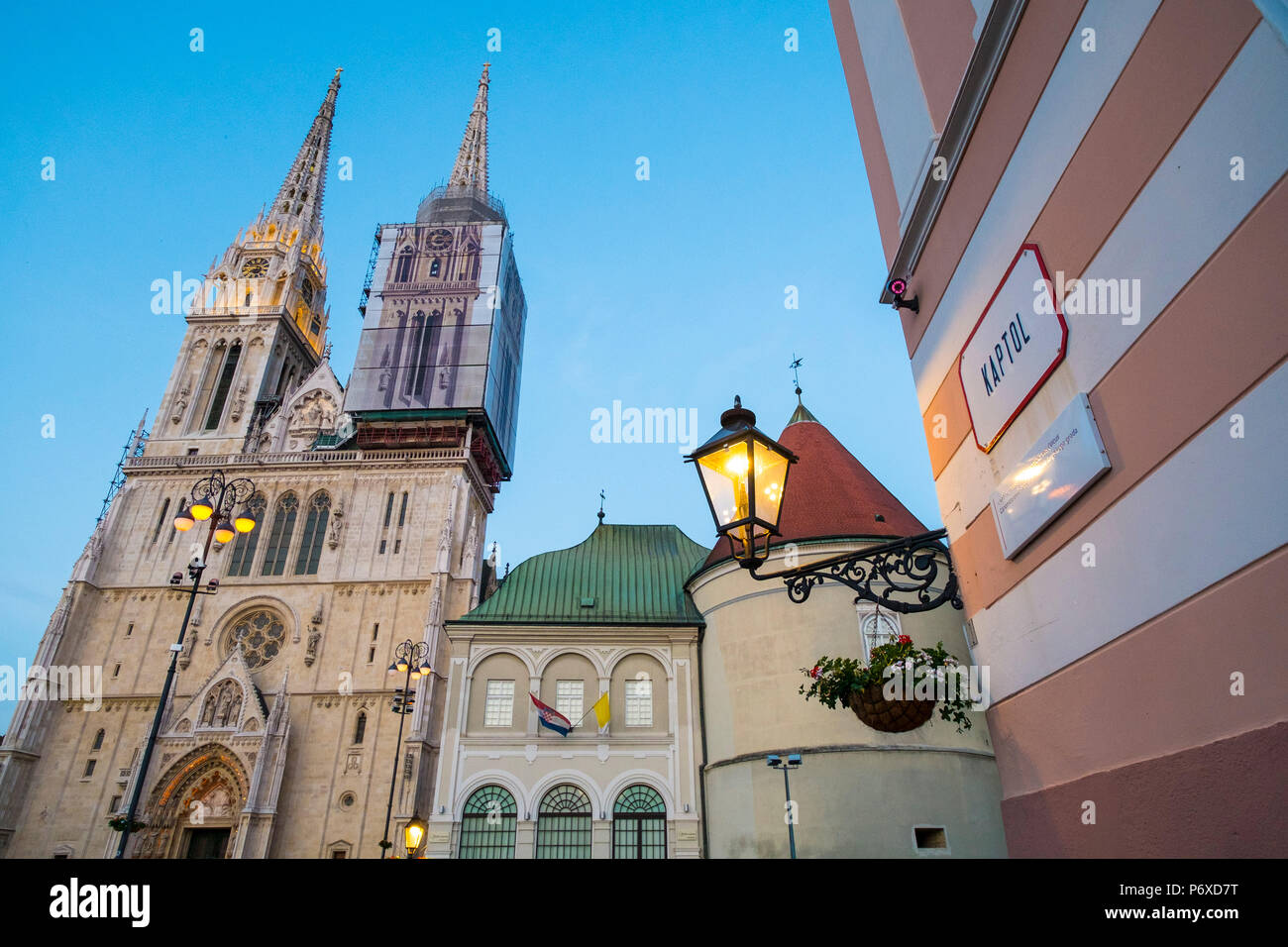 Cathedral of the Assumption of Mary, Zagreb, Croatia - Stock Image