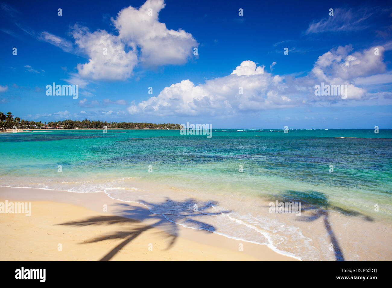 Dominican Republic, Samana Peninsula, Beach at Las Terrenas - Stock Image