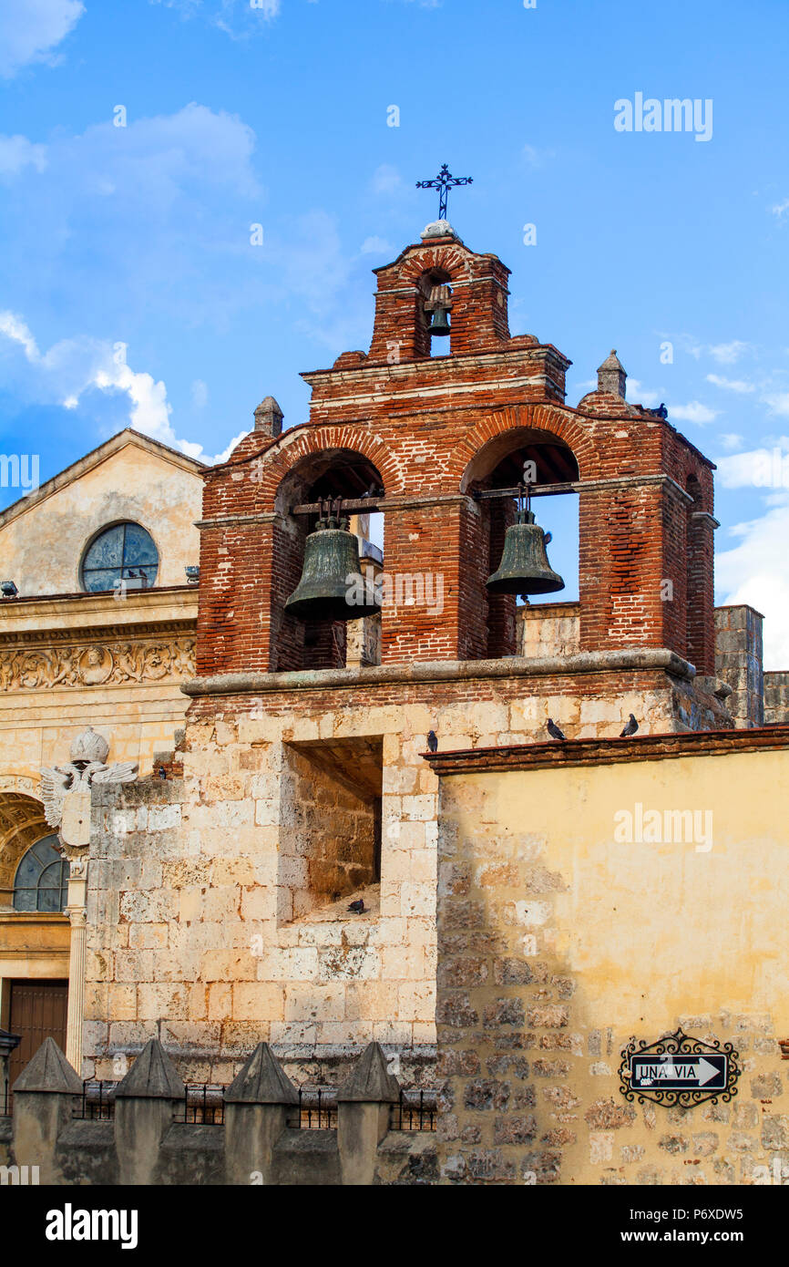 Dominican Republic, Santa Domingo, Colonial zone, Catedral Primada de America - Stock Image