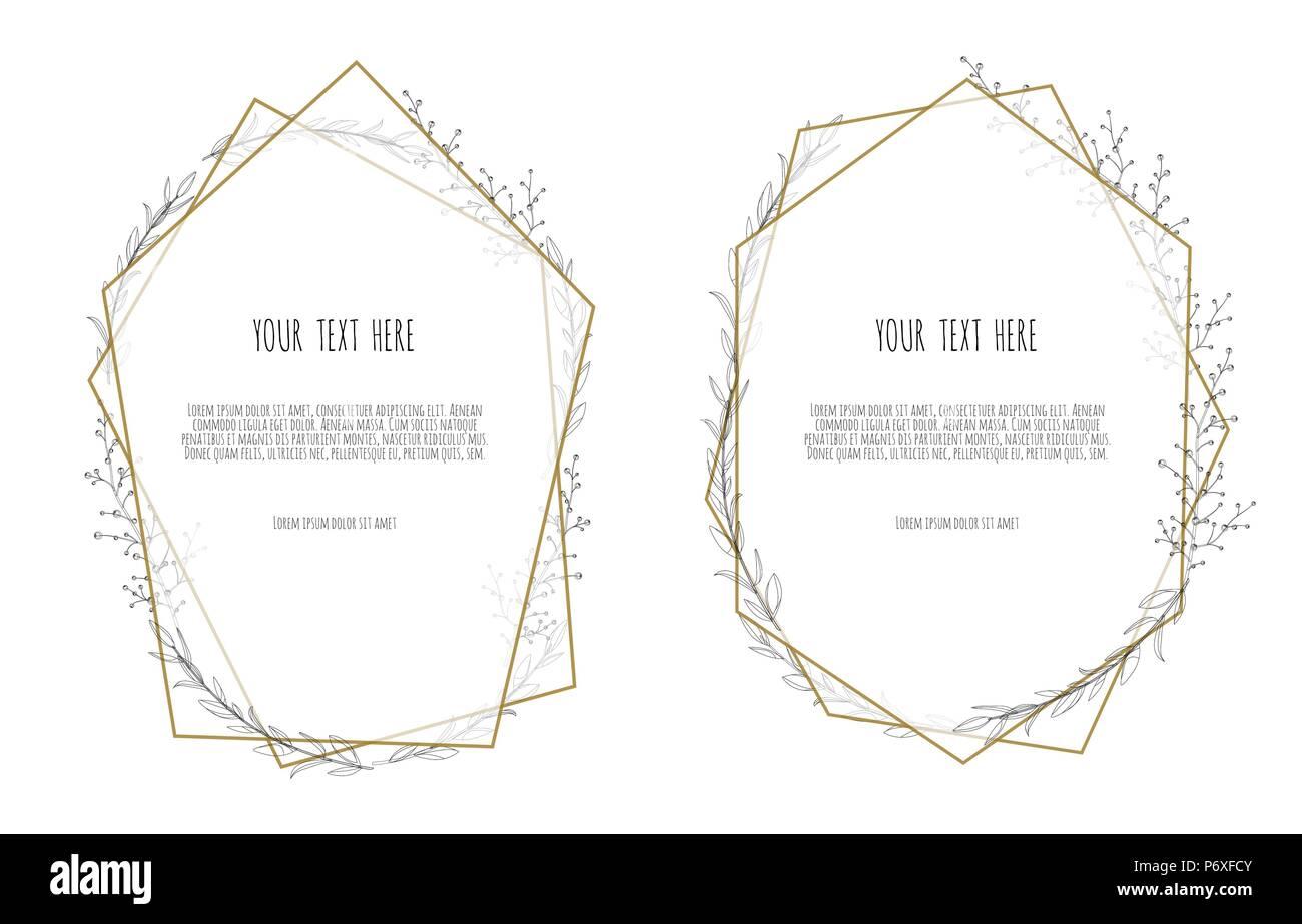 set vector floral design card greeting postcard wedding invite
