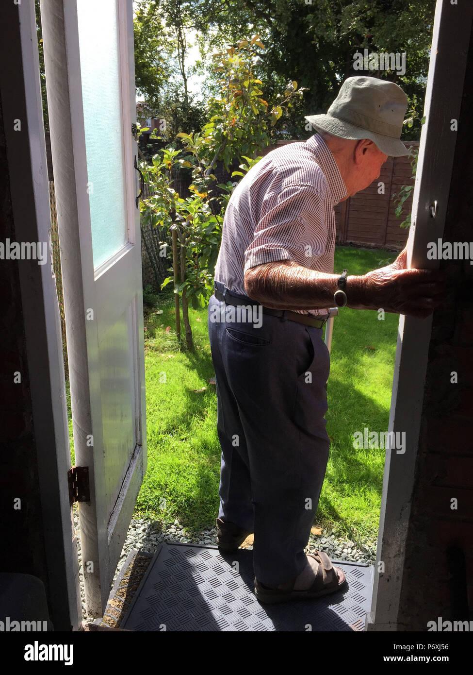 Old Man Walking Frame Stock Photos Amp Old Man Walking Frame