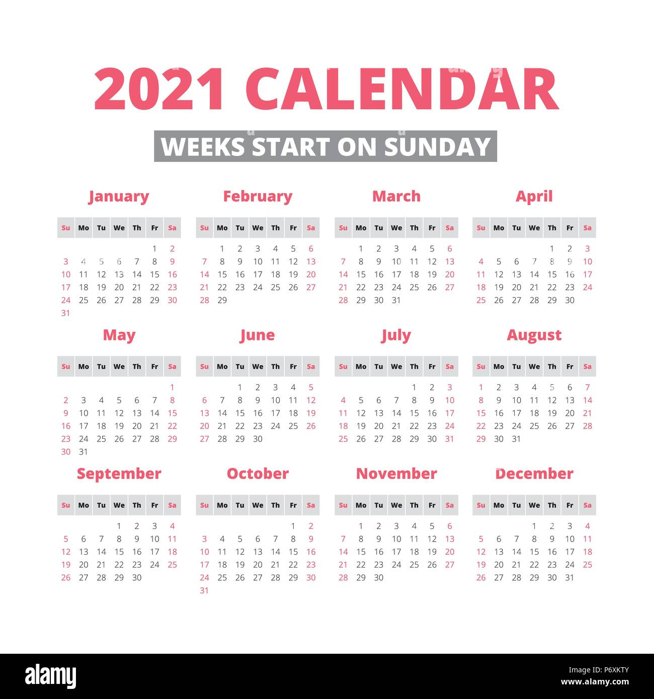 Photos of 2021 Calendar Sundays