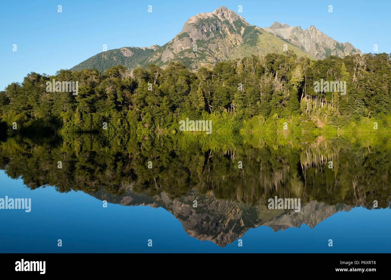South America, Argentina, Patagonia, Rio Negro, Nahuel Huapi National Park, Lago Escondido - Stock Image