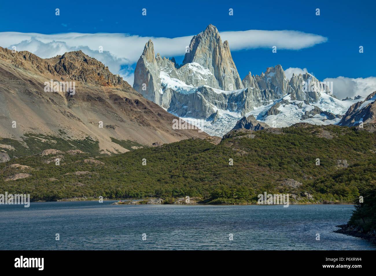 South America, Patagonia, Argentina, Santa Cruz, El Chalten, Los Glaciares National Park - Stock Image