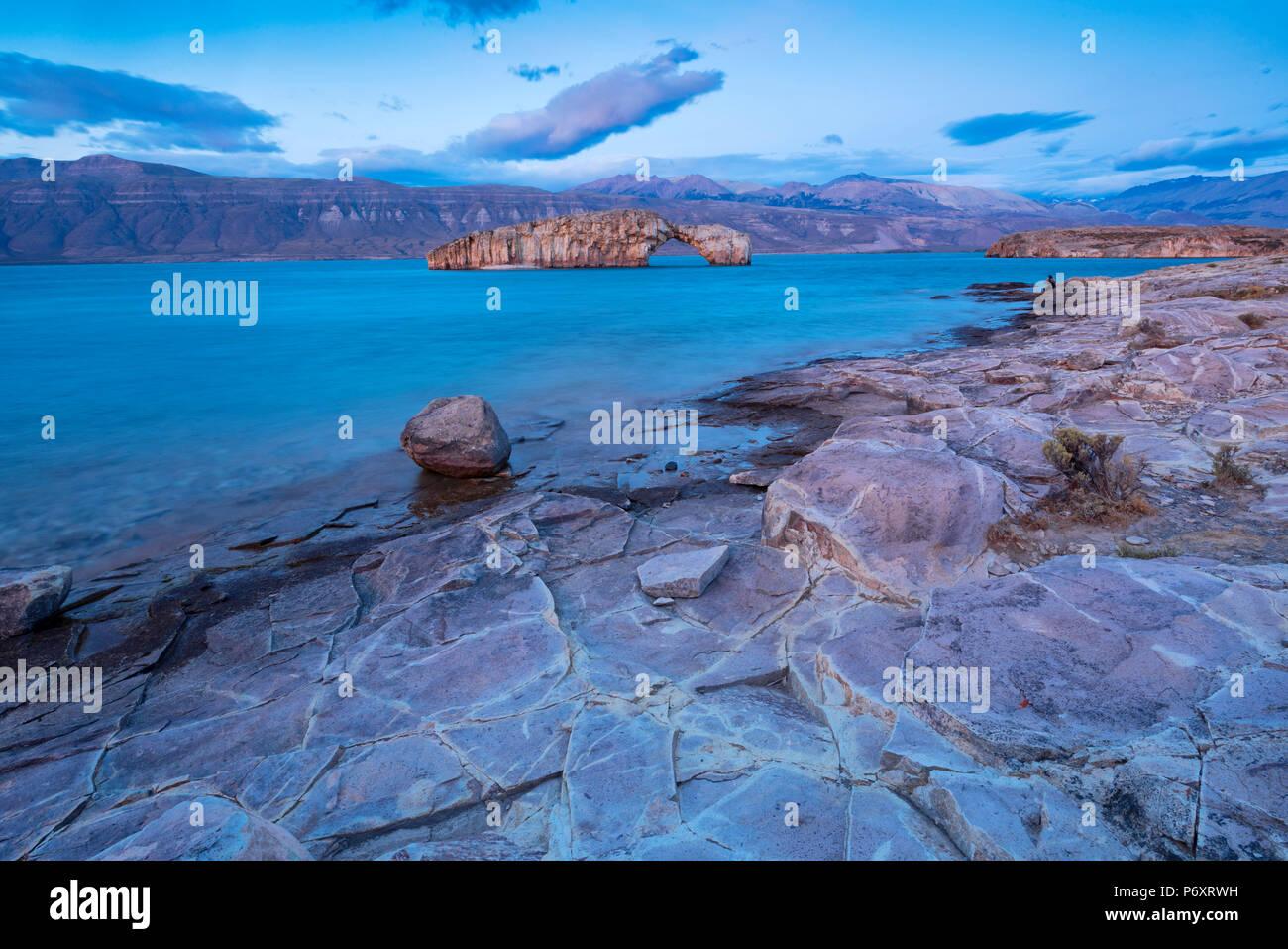 South America, Argentina, Santa Cruz, Patagonia, Lago Posadas - Stock Image
