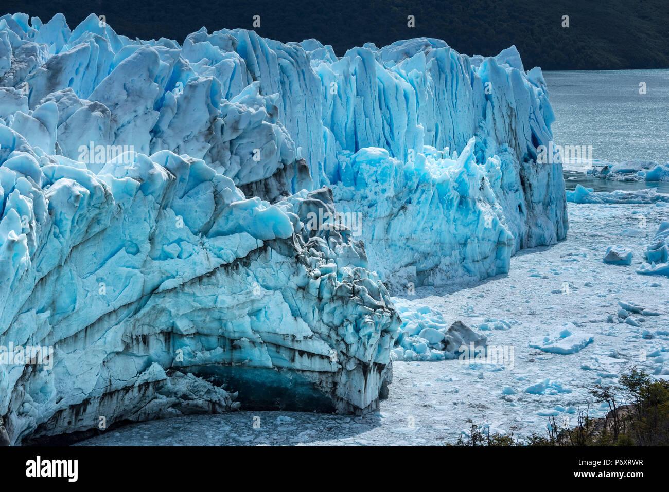 South America, Argentina, Patagonia, Santa Cruz, El Calafate, Los Glaciares National Park, Perito Moreno glacier - Stock Image