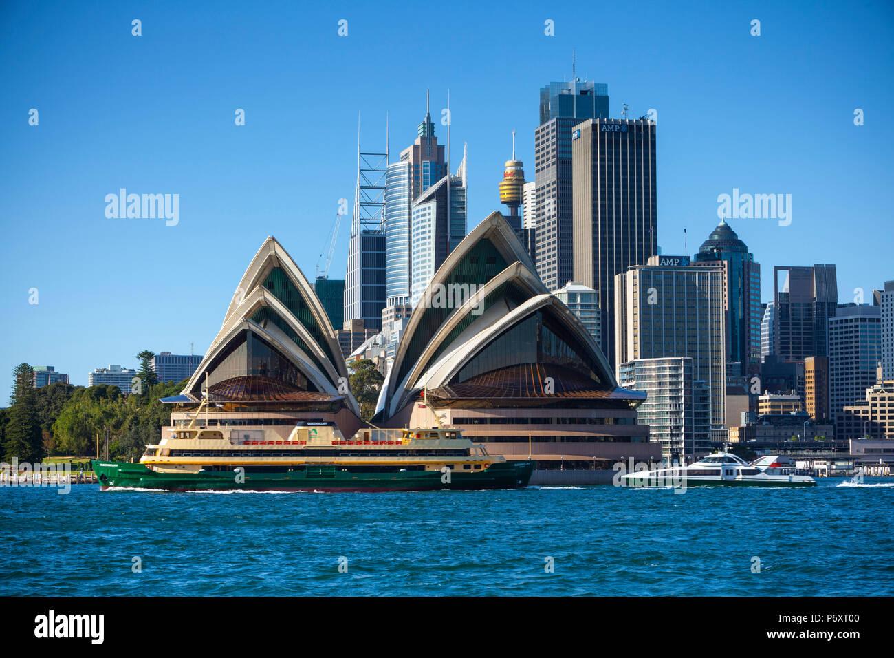 Sydney Opera House, Darling Harbour, Sydney, New South Wales, Australia - Stock Image