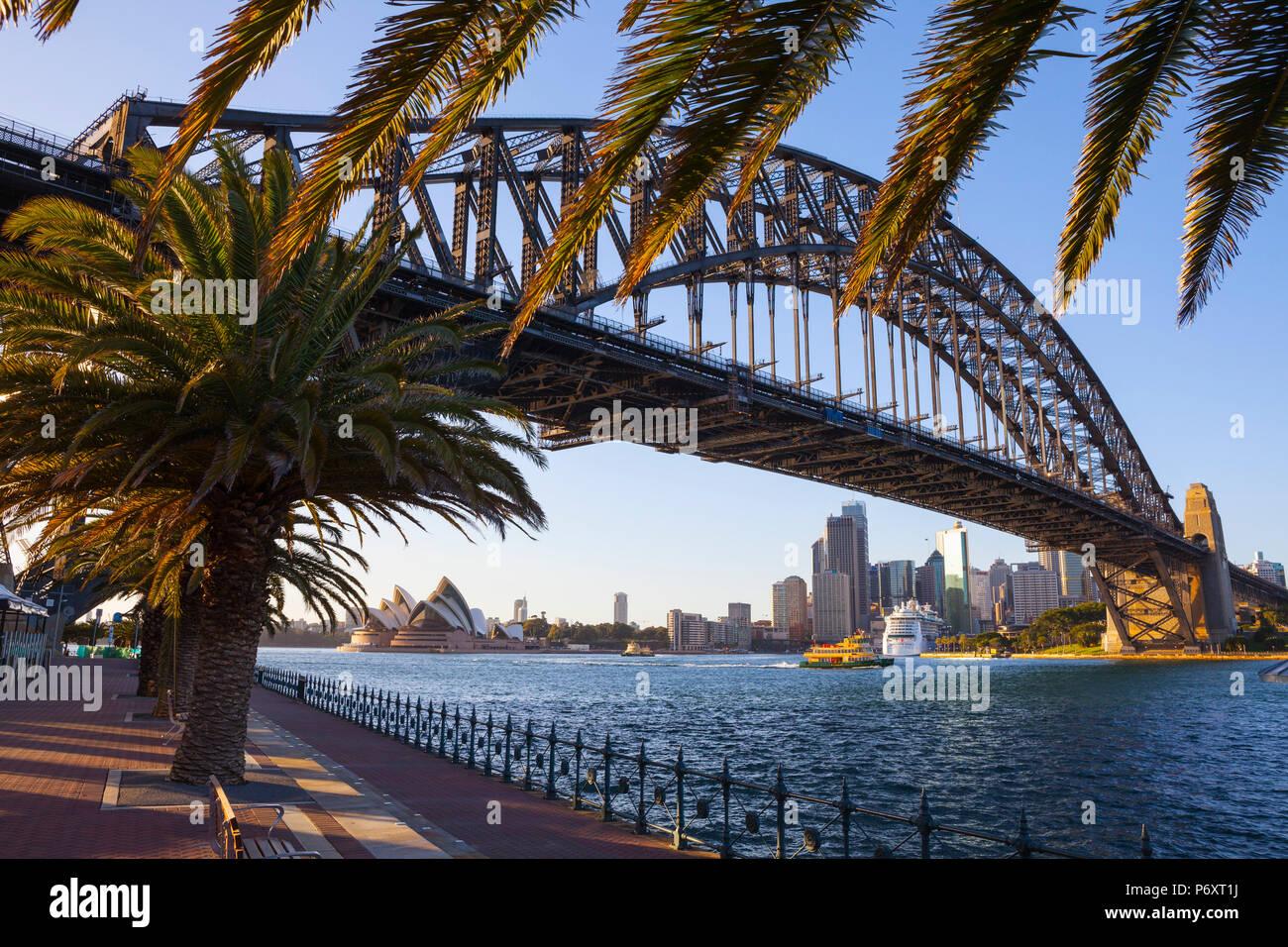 Harbour Bridge, Darling Harbour, Sydney, New South Wales, Australia - Stock Image