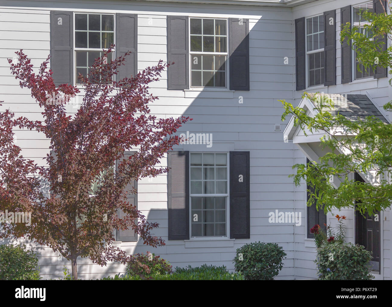 decorative window shutters country decorative window shutters on exterior stock photo 210801985 alamy