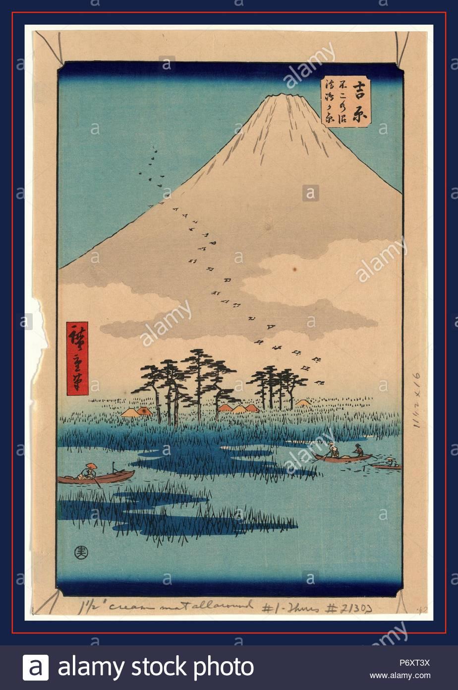 yoshiwara ando hiroshige 1797 1858 artist 1855 printed later