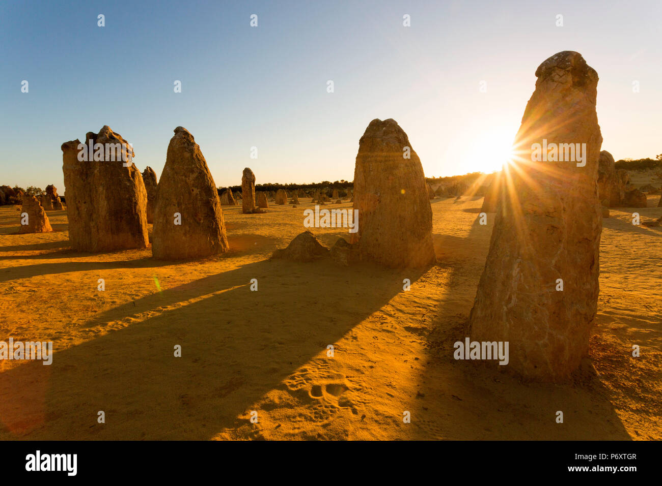 Pinnacle Desert, Western Australia - Stock Image