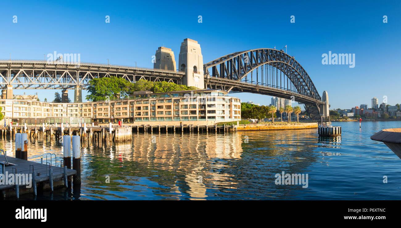 Sydney Harbour Bridge, Sydney, New South Wales, Australia - Stock Image