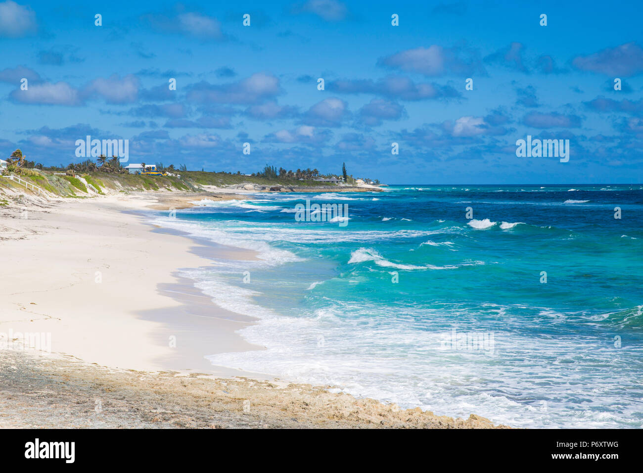 Bahamas, Abaco Islands, Elbow Cay, White Sound beach - Stock Image
