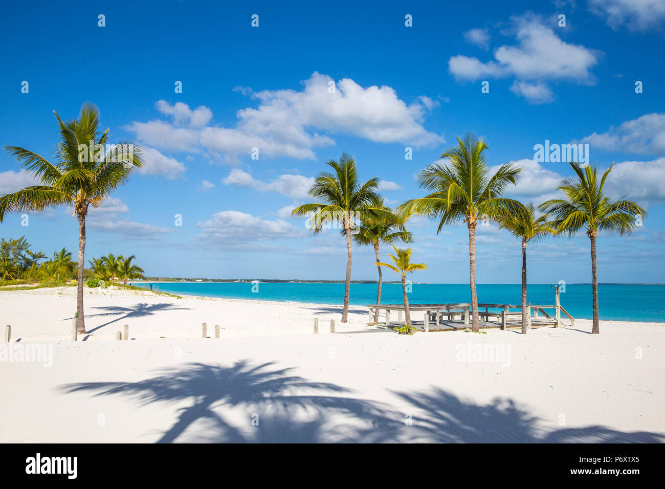 Bahamas, Abaco Islands, Great Abaco, Beach at Treasure Cay - Stock Image