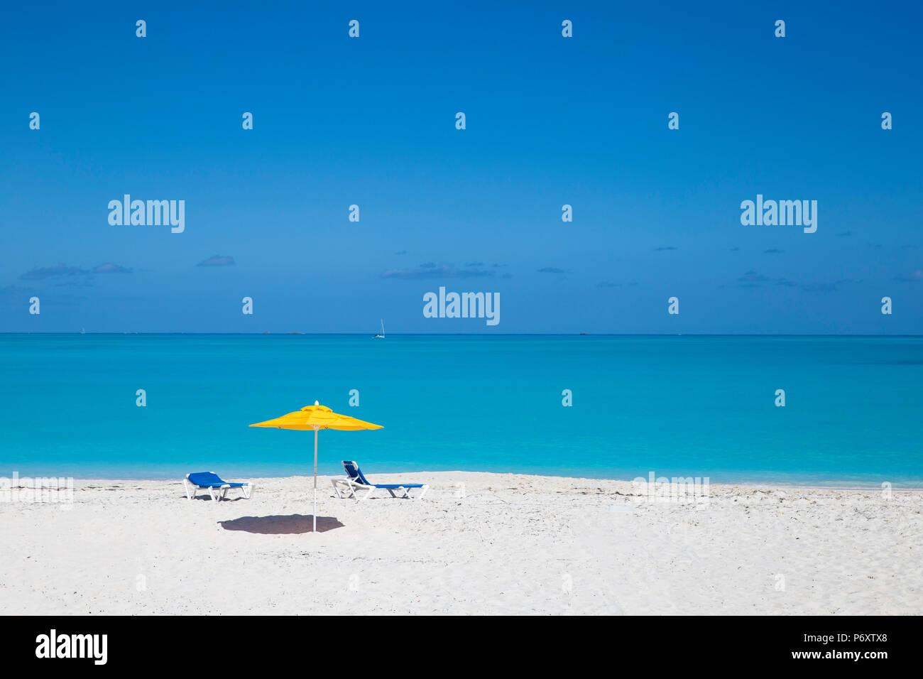 Bahamas, Abaco Islands, Great Abaco, Beach at Treasure Cay - Stock Image