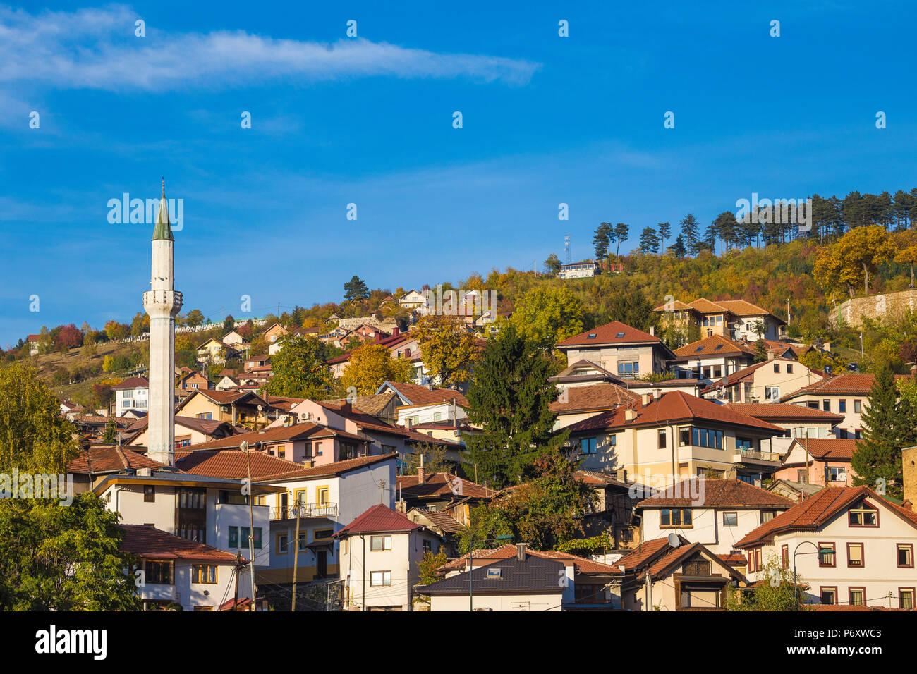 Bosnia and Herzegovina, Sarajevo, view of Bjelave area - Stock Image