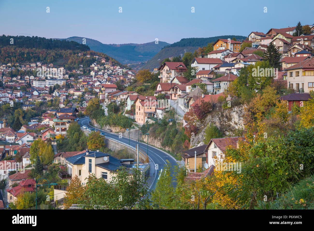 Bosnia and Herzegovina, Sarajevo, City  view - Stock Image