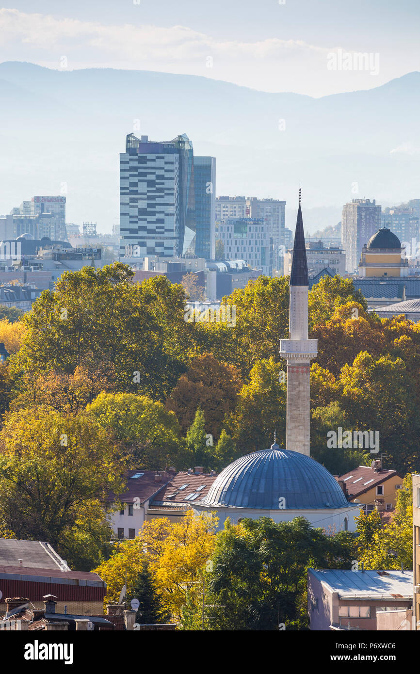 Bosnia and Herzegovina, Sarajevo, View of City - Stock Image