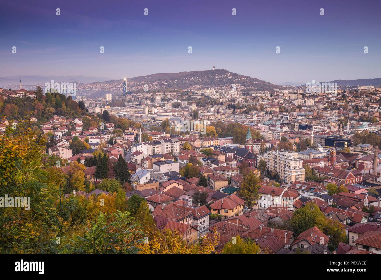 Bosnia and Herzegovina, Sarajevo, View of City - Stock Image