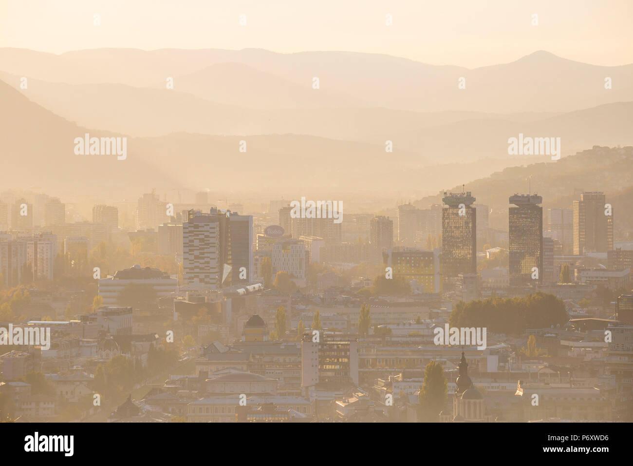 Bosnia and Herzegovina, Sarajevo, View of Sarajevo City - Stock Image