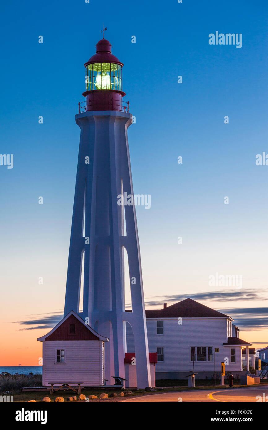 Pointe au pere lighthouse stock photos pointe au pere for National rimouski