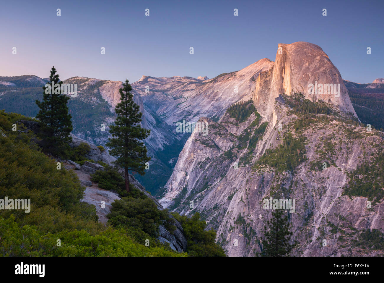 USA, California, Yosemite National Park, Half Dome - Stock Image