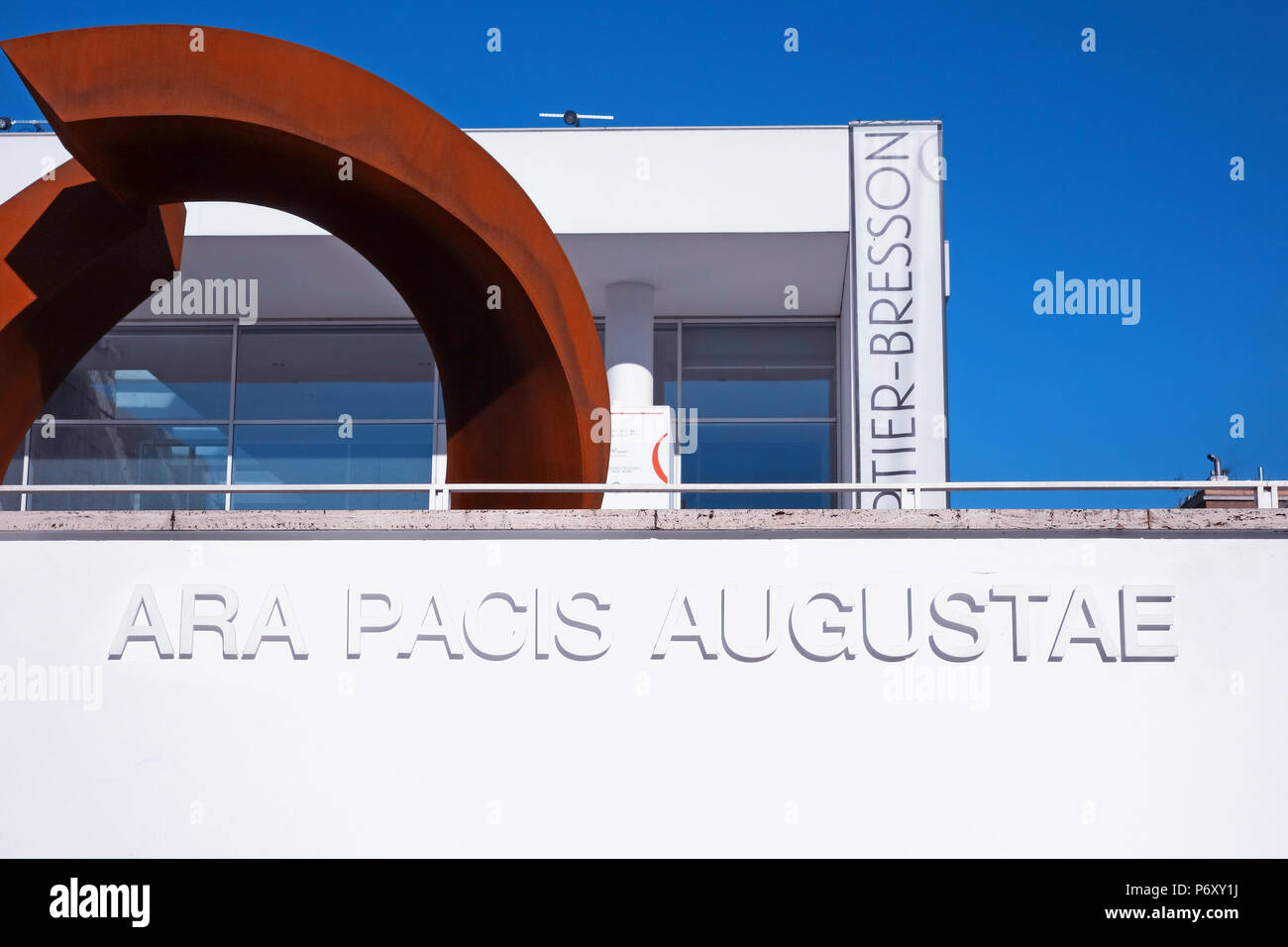 Ara Pacis Augustae Modern Museum in Rome Italy - Stock Image