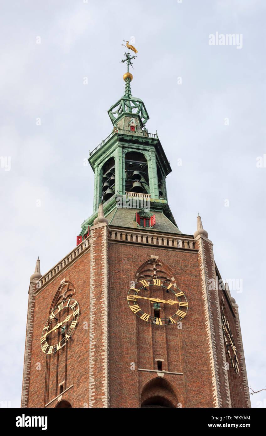 The bell tower of St. James' Church (de Sint-Jacobskerk), The Hague, Netherlands Stock Photo