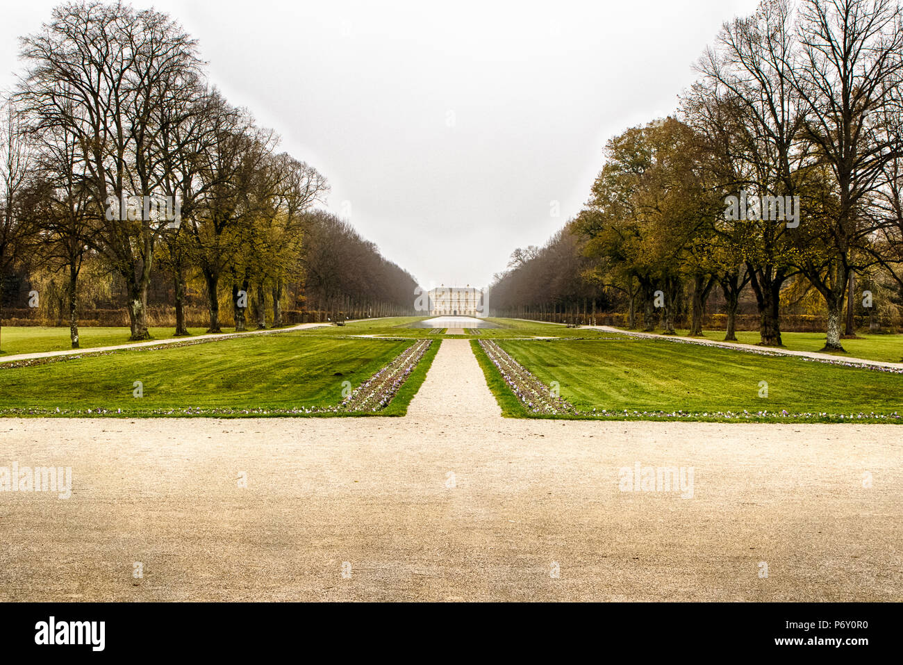 MUNICH, GERMANY - November 15, 2017: Schleissheim Palace in Munich, Germany. Summer residence of bavarian rulers. - Stock Image