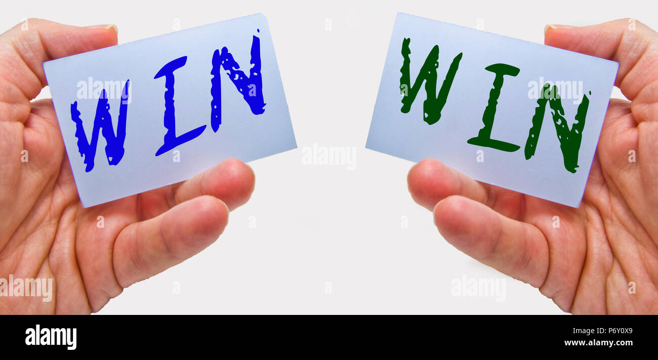 win - win concept for marketing and business negotiation - Stock Image