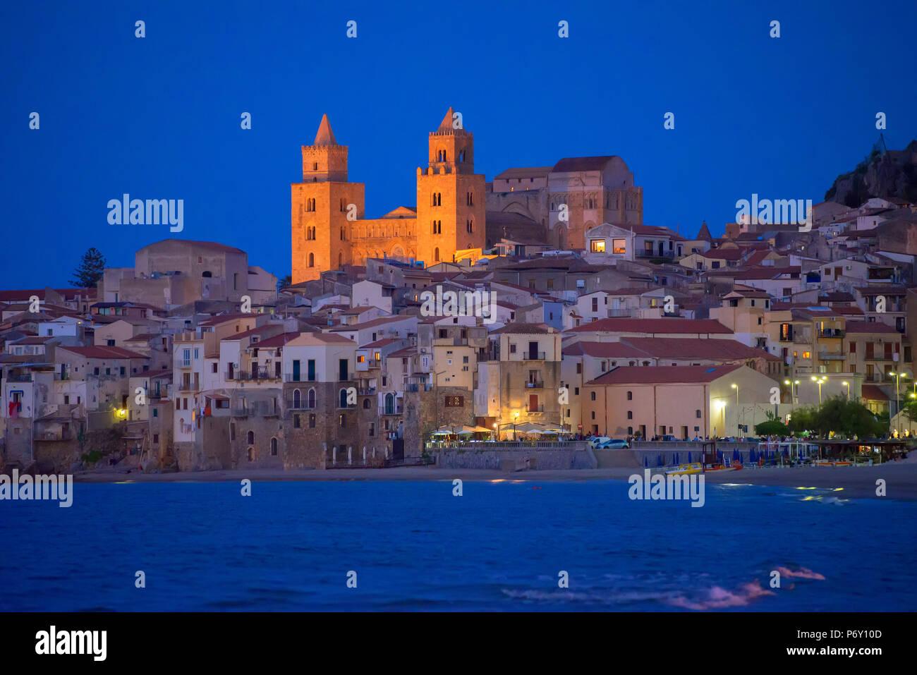 Cefalu, Sicily, Italy, Europe - Stock Image