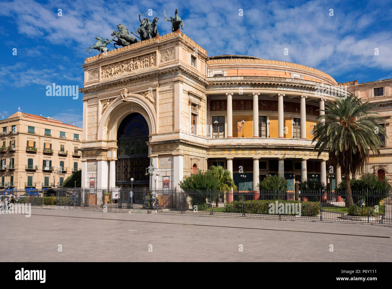 Politeama Theater, Palermo, Sicily, Italy, Europe - Stock Image
