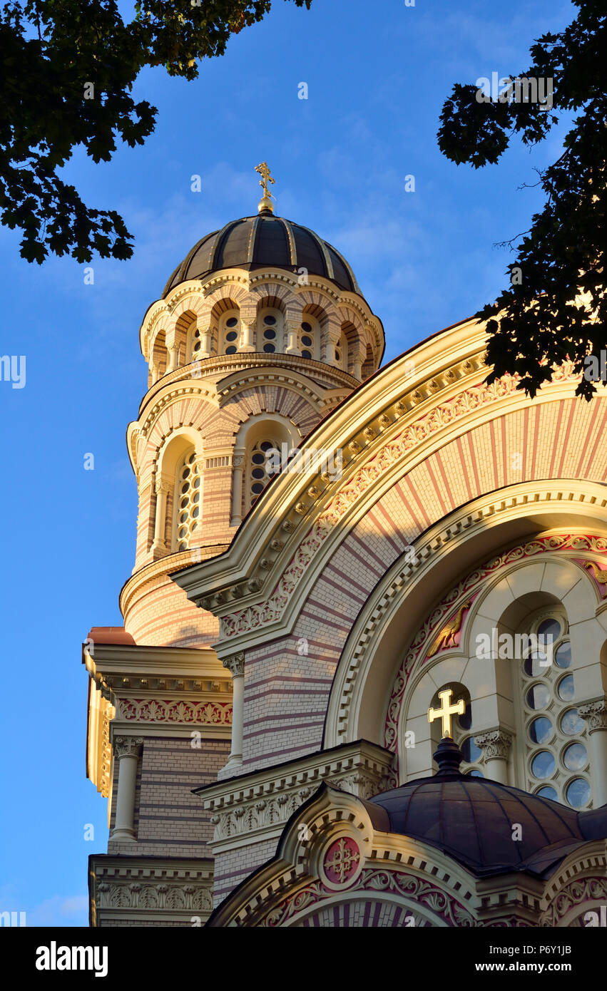 The Nativity of Christ Orthodox Cathedral. Riga, Latvia - Stock Image
