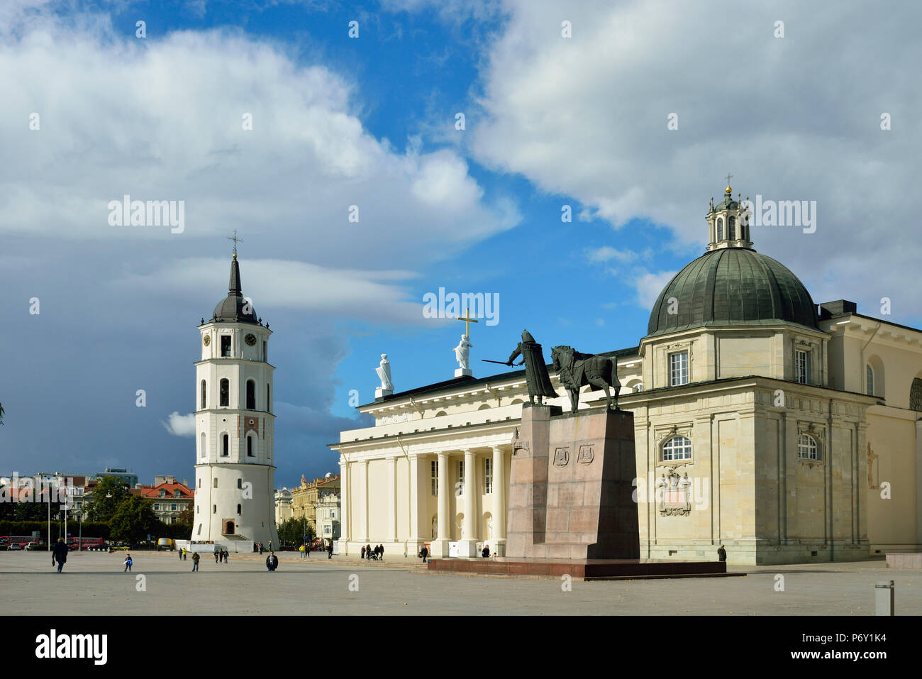 The Cathedral of St. Stanislav and St. Vladislav with the bell tower. It is the most important place of worship for Lithuania's Catholics. A Unesco World Heritage Site, Vilnius. Lithuania - Stock Image