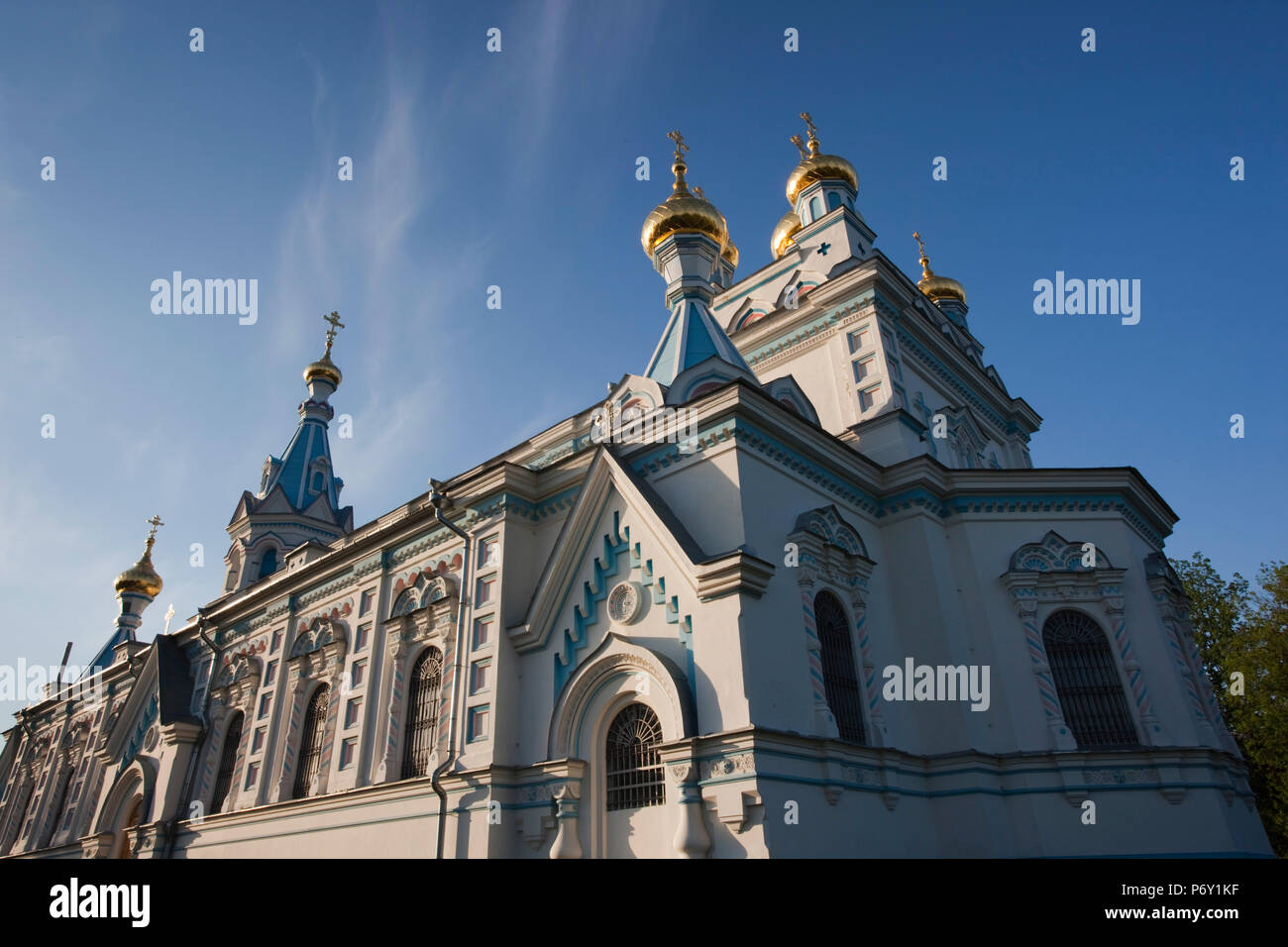 Latvia, Riga, Southeastern Latvia, Latgale Region, Daugava River Valley, Daugavpils, Russian Orthodox Church - Stock Image
