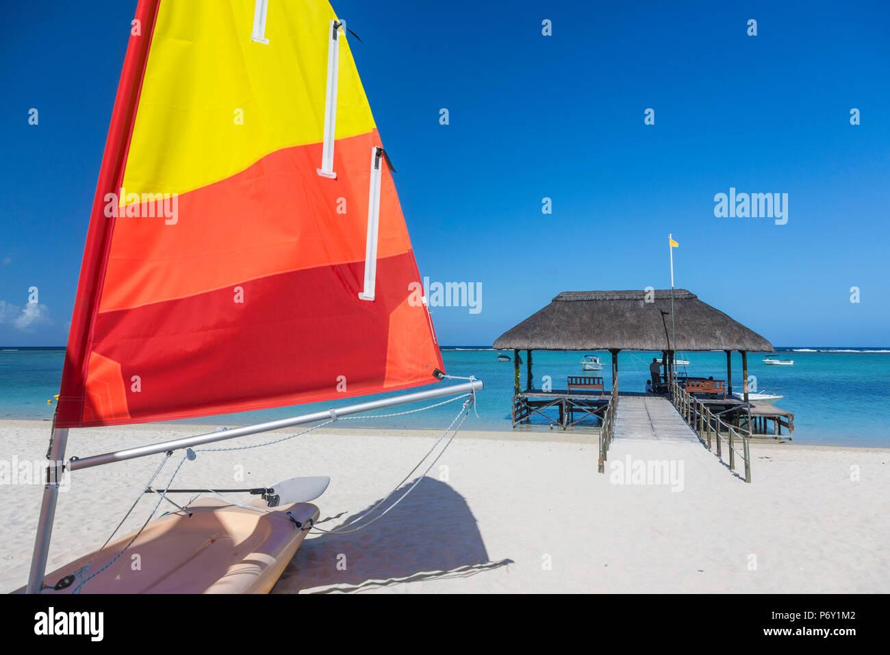 Flic-en-Flac beach, Mauritius, Indian Ocean - Stock Image