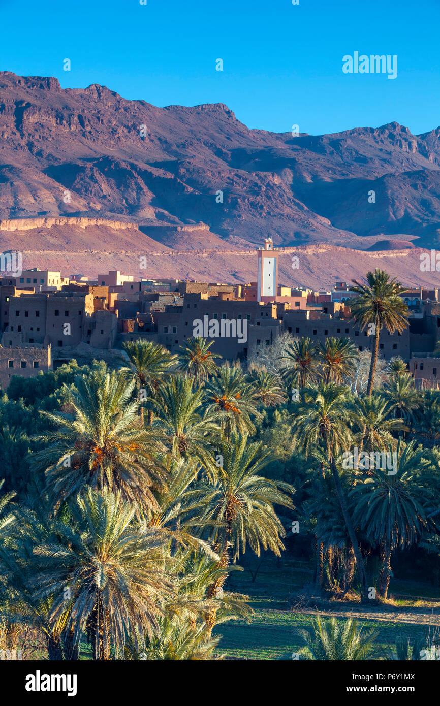Tinerhir Kasbahs & Palmery, Tinghir, Morocco - Stock Image