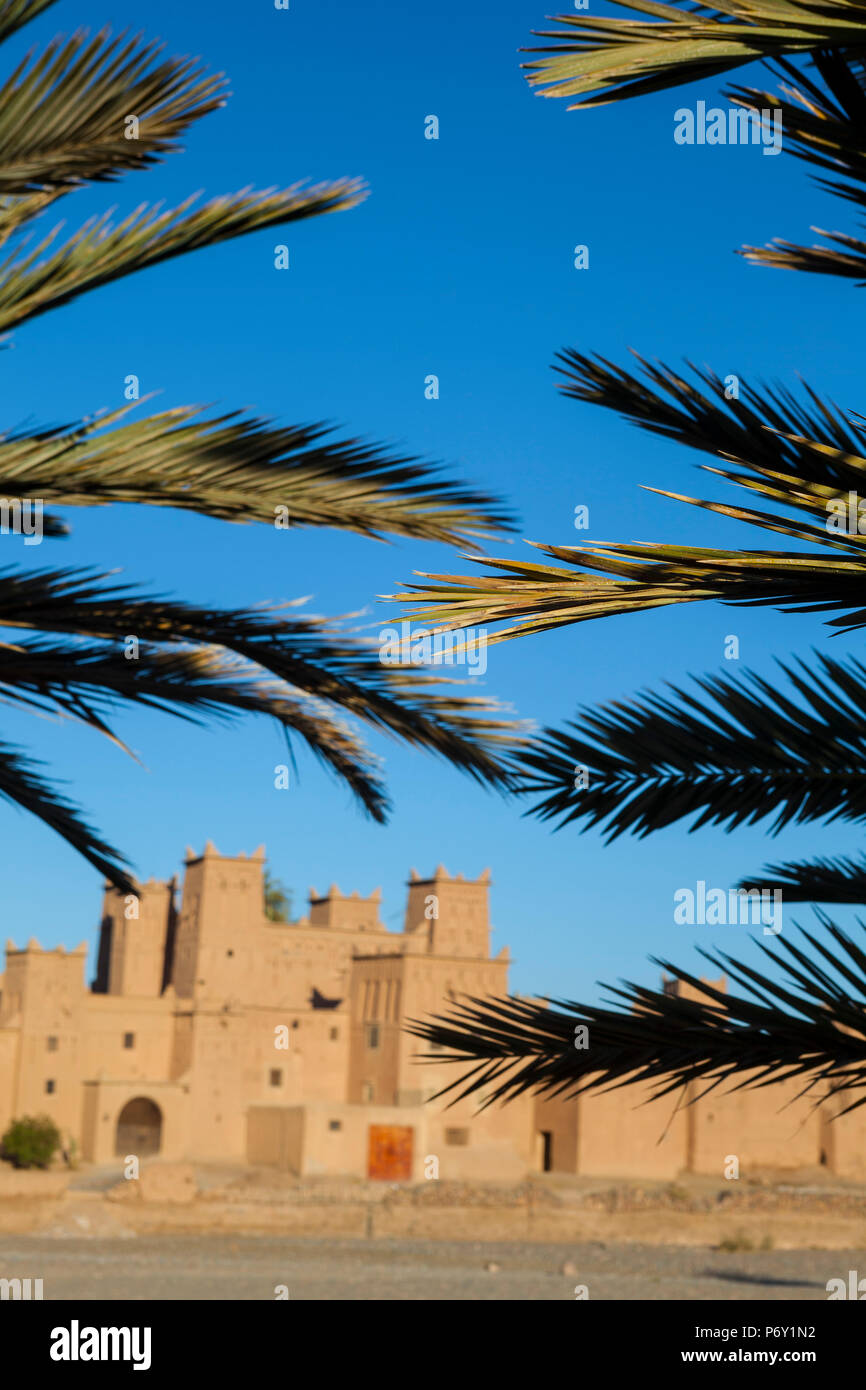 The 17th century Amerhidl kasbah, Skoura, Morocco, RF - Stock Image