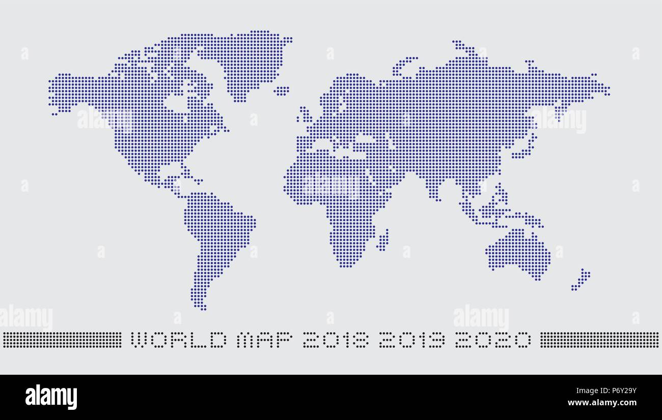 Dotted world map by circle dots accurate pixels world map dotted world map by circle dots accurate pixels world map monochrome with a light background color gumiabroncs Image collections