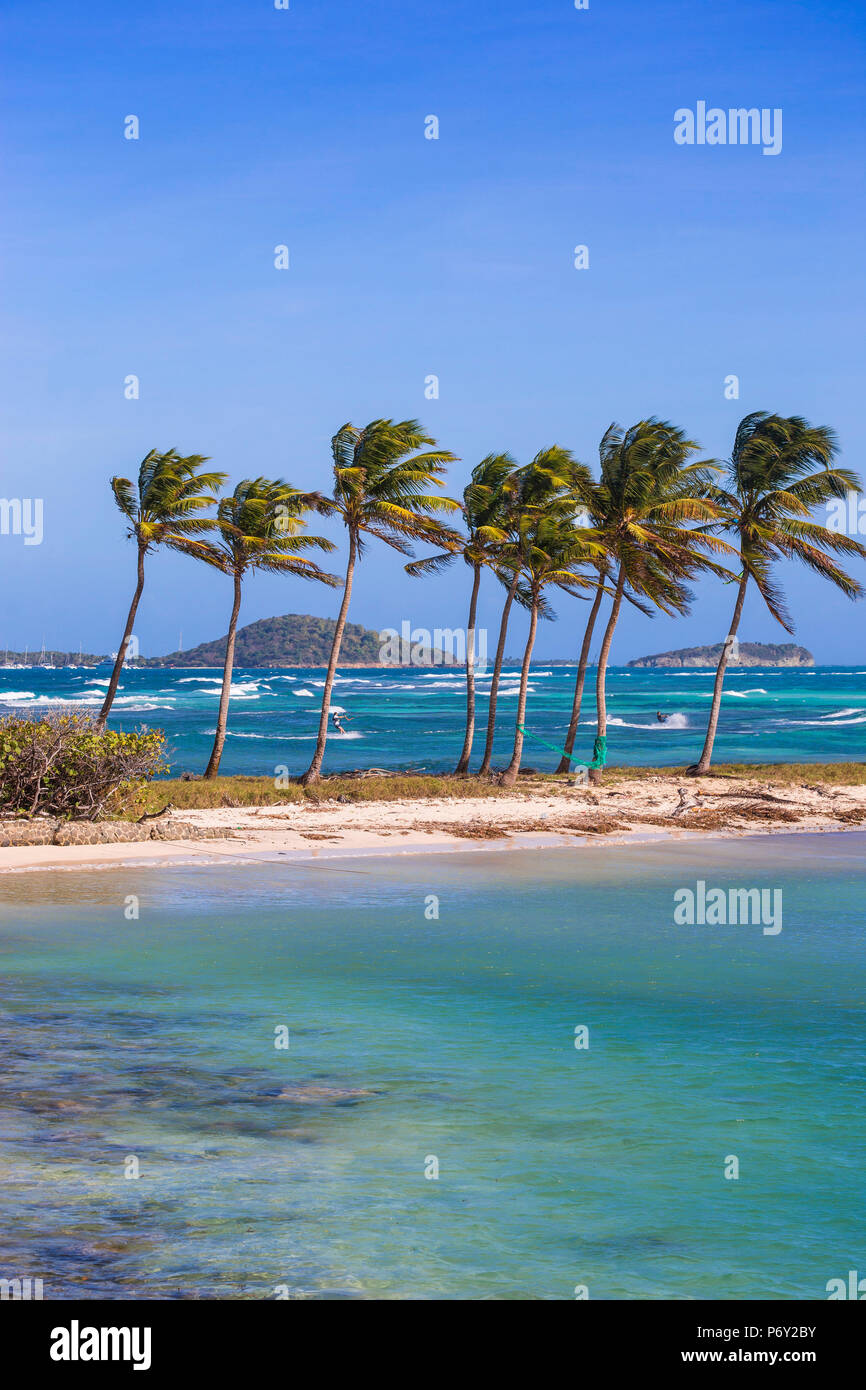 St Vincent and The Grenadines, Mayreau, Saltwhistle Bay - Stock Image