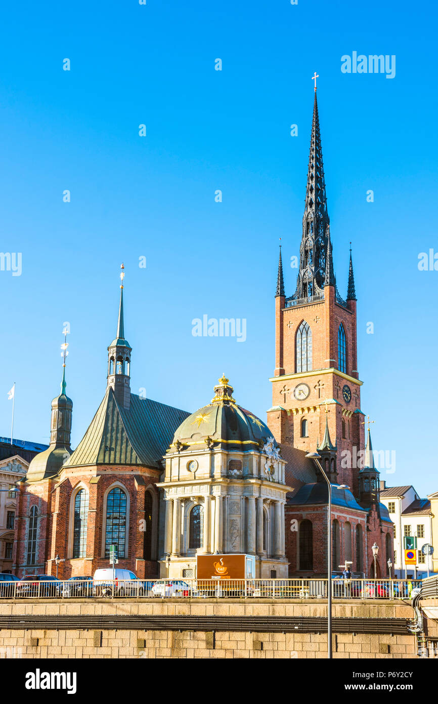 Stockholm, Sweden, Northern Europe. Riddarholmskyrkan (Church) in Riddarholmen. - Stock Image