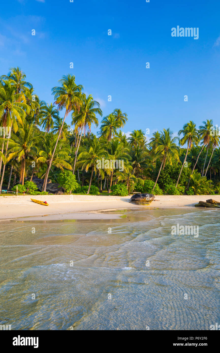 Tropical beach on an Island nr Ko Chang, Thailand - Stock Image