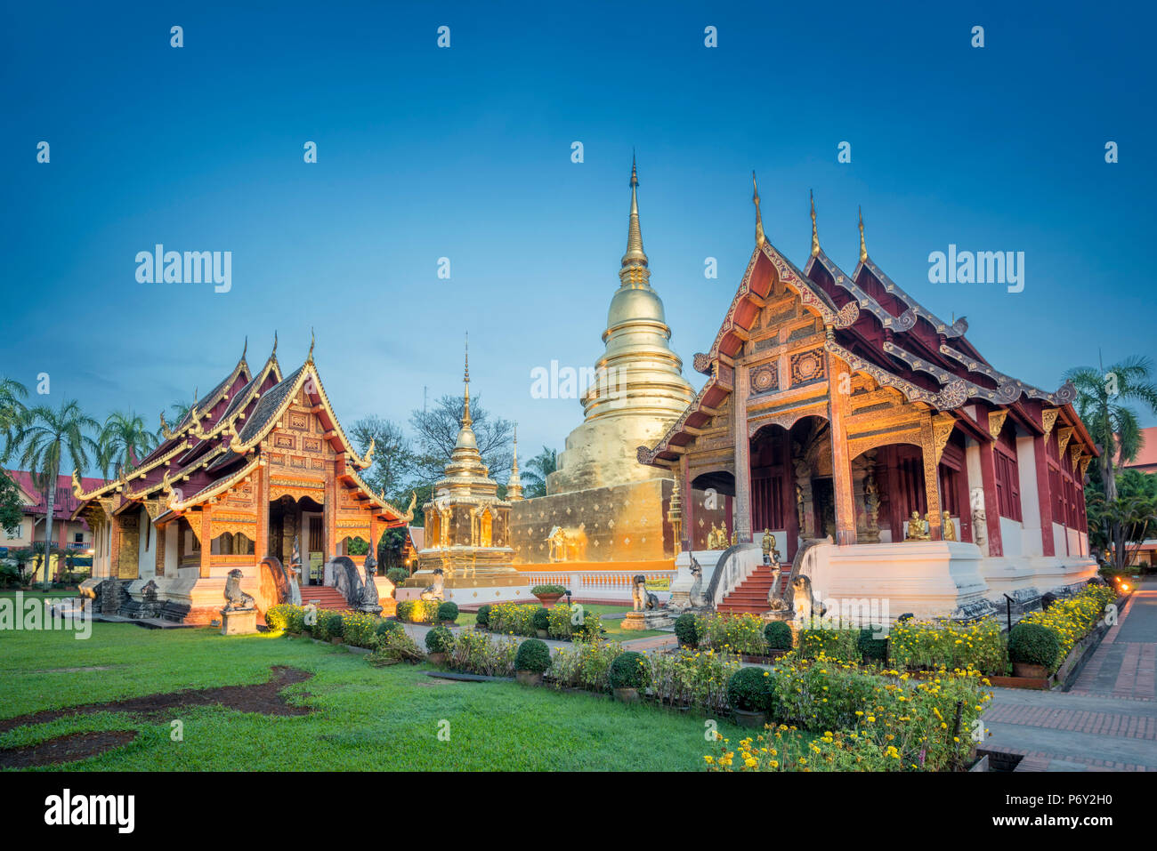 Wat Phra Singh, Chiang Mai, Thailand. - Stock Image