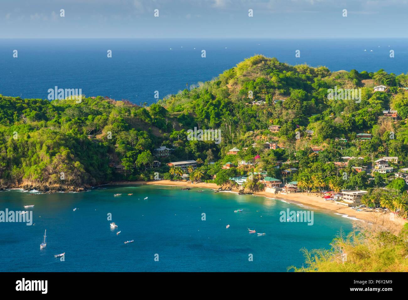 Caribbean, Trinidad and Tobago, Tobago, Castara Bay, Castara - Stock Image