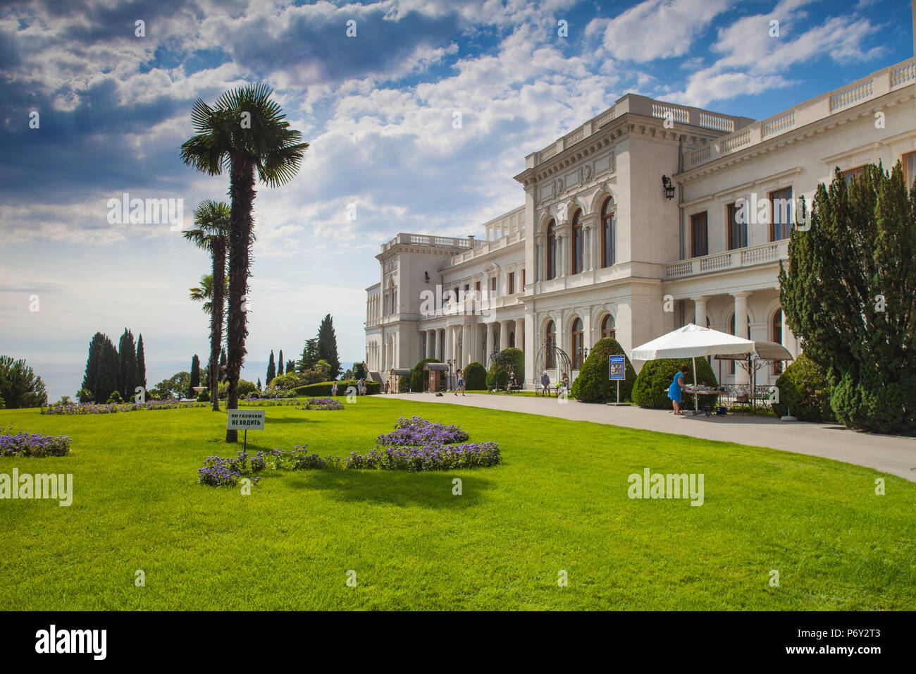 Ukraine, Crimea, Livadia Palace, location of the Yalta conference in 1945talks took place with Stalin from USSR, Roosevelt from USA and Churchill from Great BritainStock Photo