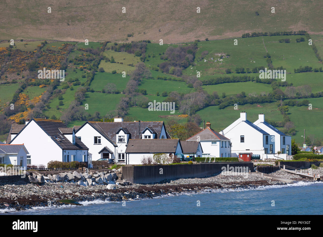 UK, Northern Ireland, County Antrim, Glenariff, view of the ladder farms - Stock Image