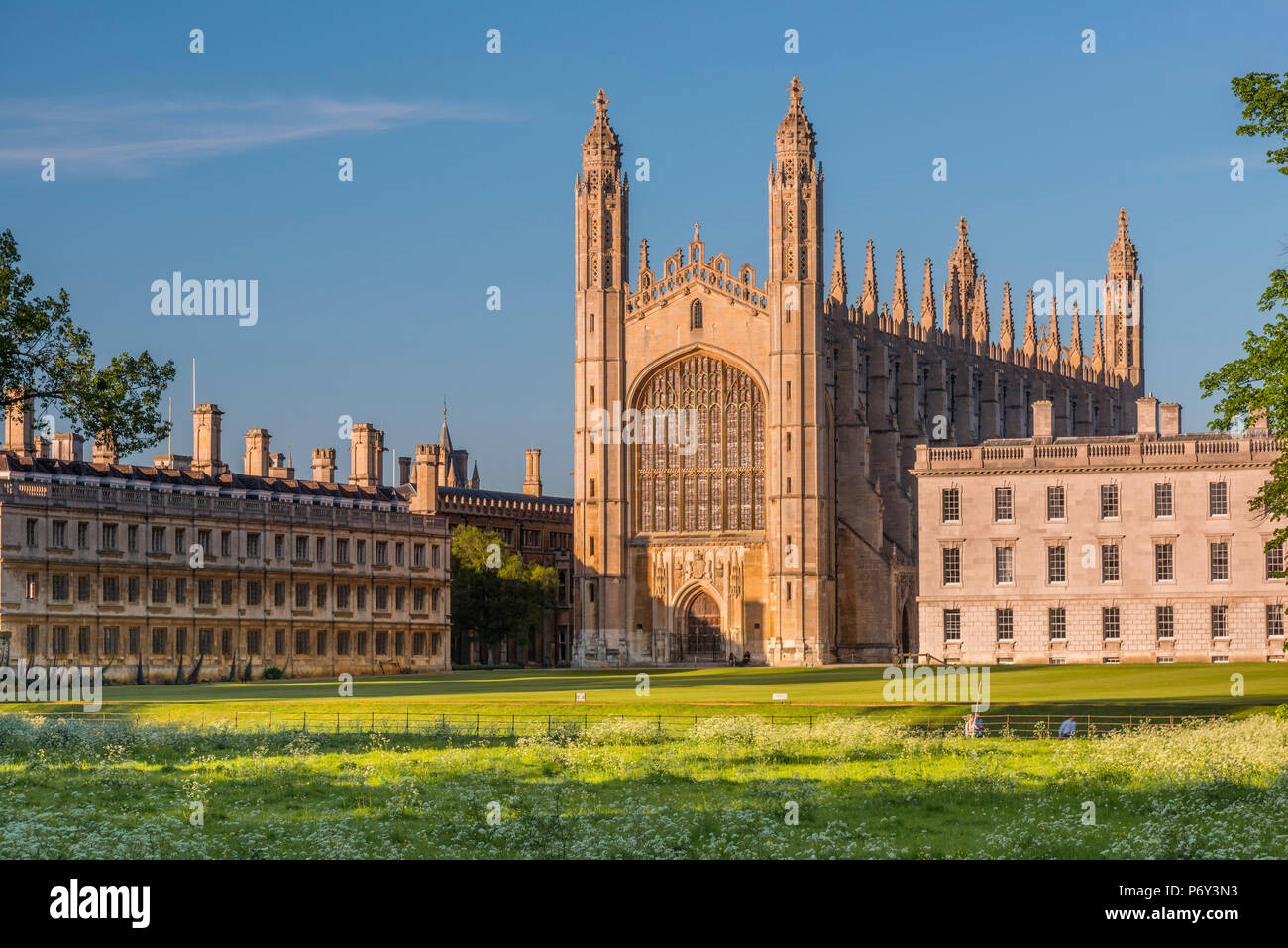 UK, England, Cambridgeshire, Cambridge, The Backs, King's College, King's College Chapel - Stock Image