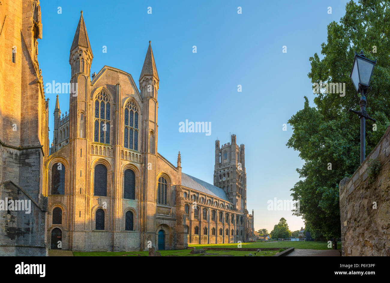 UK, England, Cambridgeshire, Ely, Ely Cathedral - Stock Image