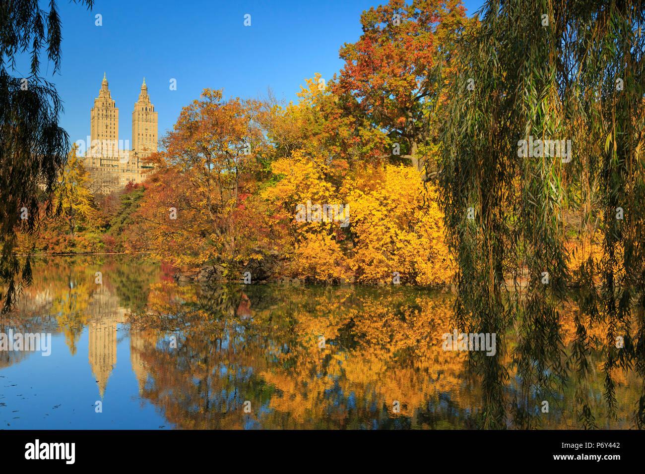 USA, New York City, Manhattan, Central Park Stock Photo