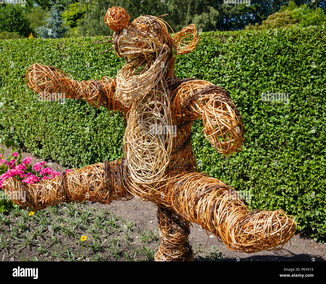 Tigger leaping for joy after eighty years of fun, Homestead Park, York, UK Stock Photo